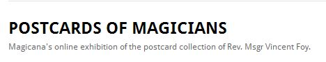 postcards of magicians